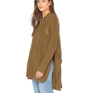 Free People Spin Around Poncho Sweater